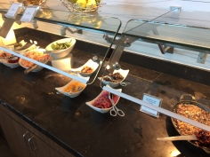 The lunch and dinner buffet also feature a salad bar