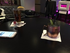 Moscow mule and Hot Tea