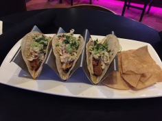 Fish tacos with chips
