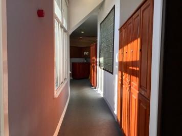 Entrance to men's locker room at London Marriott County Hall