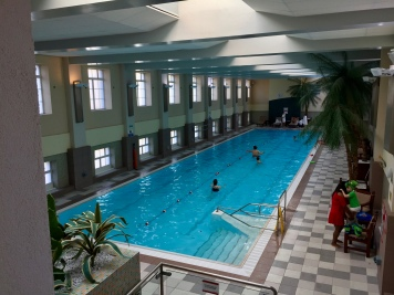 Indoor lap pool at the London Marriott County Hall