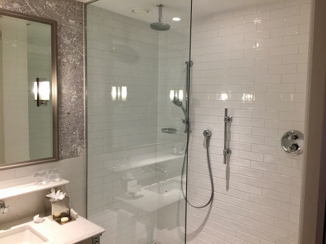 Walk-in shower at the London Marriott County Hall