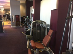 Weight machines at the London Marriott County Hall