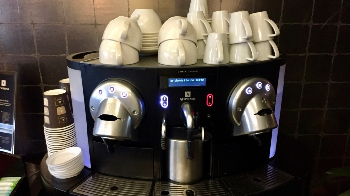 Coffee and Espresso machine in the Executive Lounge