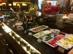 Selection of fruit at the breakfast buffet