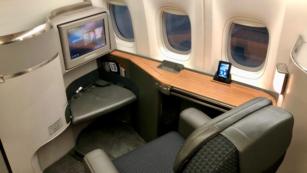 American Airlines Flagship First Class seat on the 777-300ER
